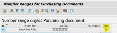 Number Range for Purchasing Document