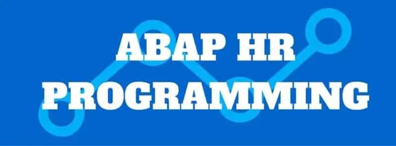 ABAP HR PROGRAMMING