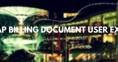 SAP Billing Document User Exit