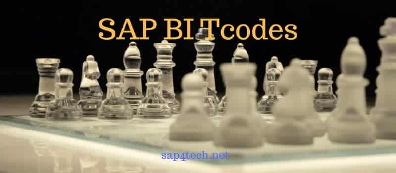 SAP BW Tables