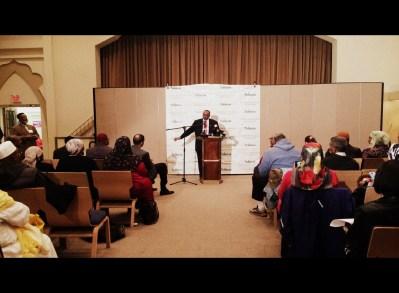 """Press Conference in response to Pamela Geller's Anti-Muslim ads on SEPTA"" Philadelphia (Photo: Donna Auston)"