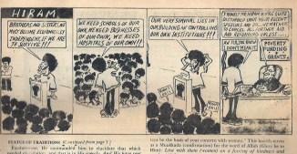 """HIRAM Cartoon"" The Western Sunrise Vol. 8 No. 1 July 1979-October 1980 (Mosque of Islamic Brotherhood Newspaper, Harlem, NY)"