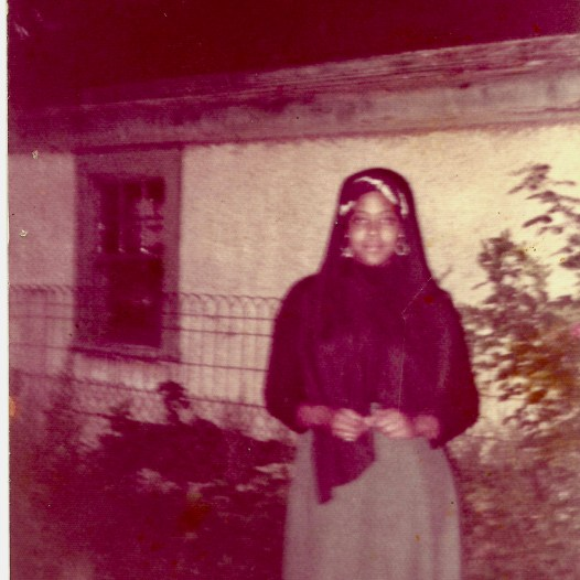 Amina as a young Muslim woman. Photo courtesy of umisarchive.com