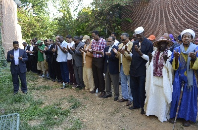 Offering the funeral prayer