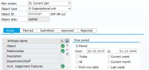 SAP HCM Infotype statuses in PP01