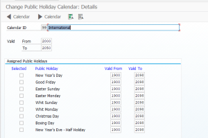 Assign holidays to Holiday Calendar in SAP