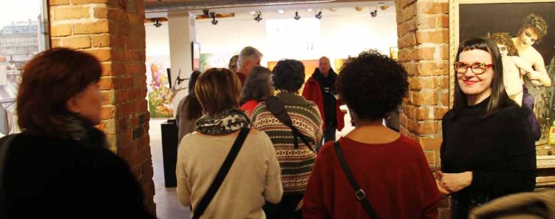 Le public présent au spectacle des Visages de l'espoir - L'itinéraire - Festival Blue Metropolis - Galerie le Loft