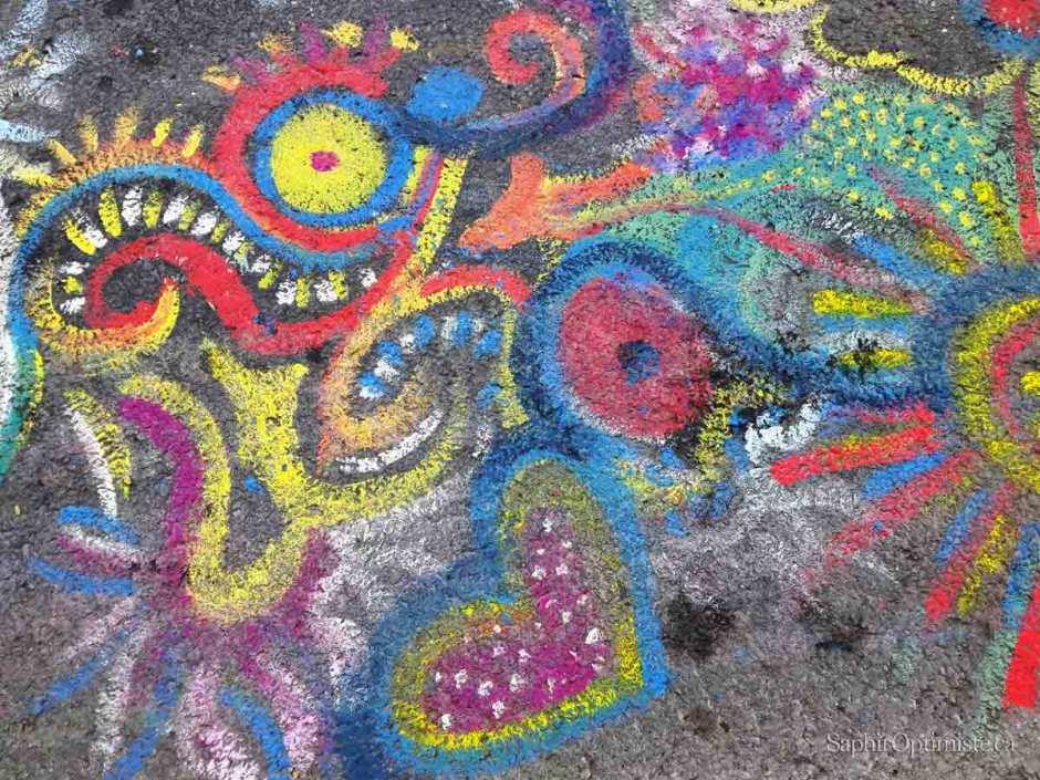 cœur, couleurs, jaune, bleu, rouge, joie amour festival oumpf Montréal, Saphir Optimiste