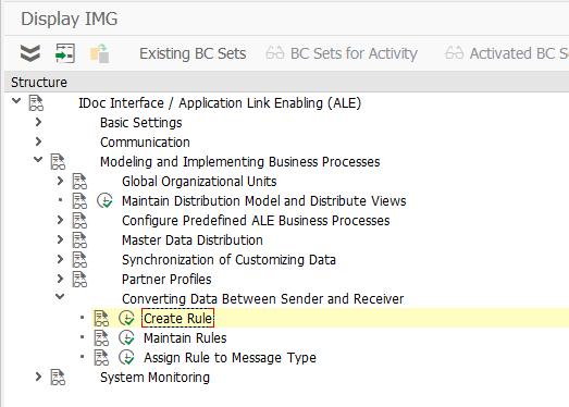 Data conversion in SAP ALE
