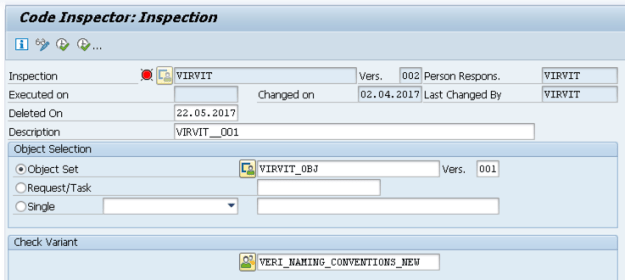 SAP Code Inspector Inspection