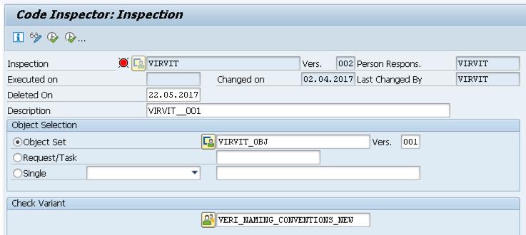 SAP Code Inspector Inspection