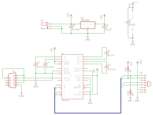 small resolution of rs232 to rs485 converter rs232 rs485 schematic