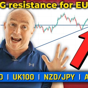 Strong Resistance for EUR/USD! Discussing AUD/JPY, NZD/JPY & More! (Forex Forecast)
