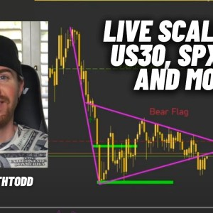 Live Forex Scalping with EarnWithTodd! Scalping the Close [US30, NAS100, SPX500]
