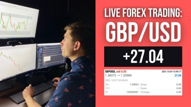 Real Forex Trade: A quick trade on GBP/USD for +$27.04