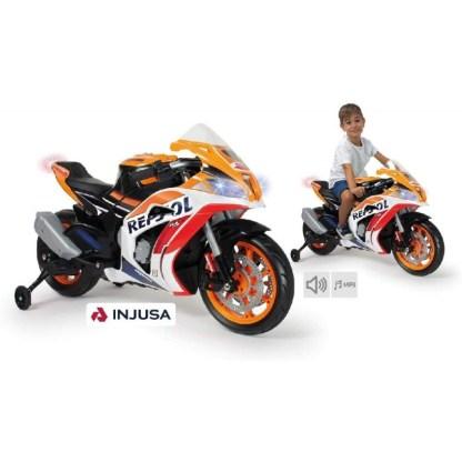 moto honda repsol marc marquez 12v con luces y sonido 1