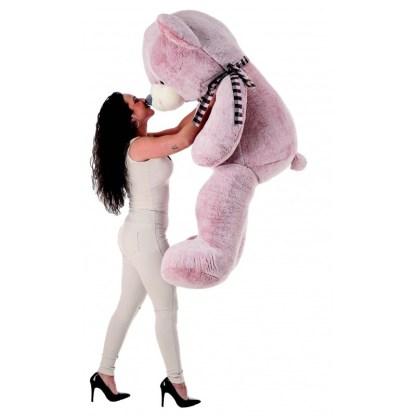 oso de peluche suavi 2 colores gris rosa