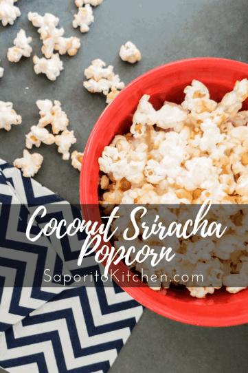 Coconut Sriracha Popcorn