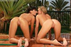 Sapphic Erotica Natali & Carie in Water Seduction 8