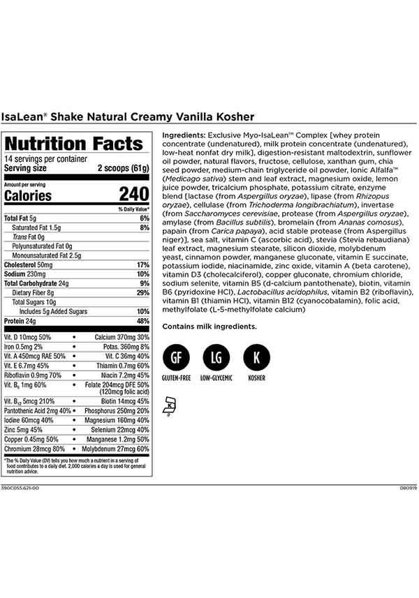 Isagenix Shake Calories : isagenix, shake, calories, Isagenix, IsaLean, Shakes, Sapphire, Botanica