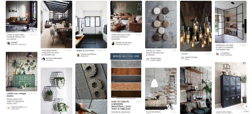 Pinterest Industrial home style