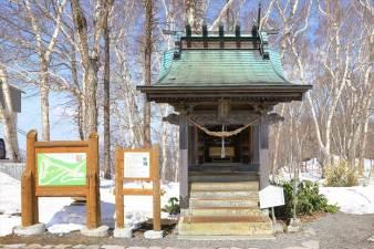 藻岩山神社 冬