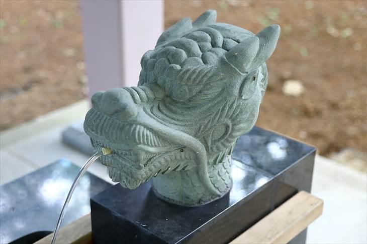 大谷地神社 手水の龍神様