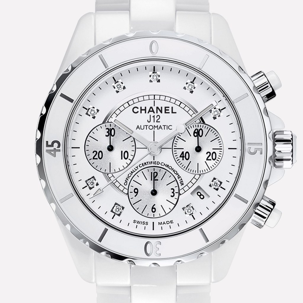CHANEL J12 Chronograph white 9p diamond H2009