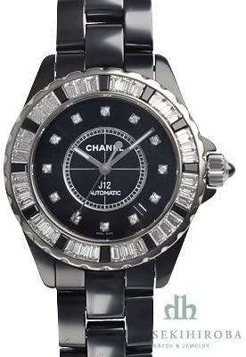 CHANEL J12 ブラック ダイヤベゼル 12Pダイヤ 38mm H2023