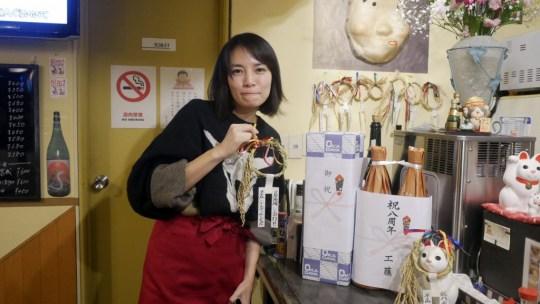 祝居酒場八周年!なんとカウンタの中には豪華なゲスト女優の大賀さんにびっくり!