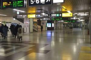 札幌駅閑散