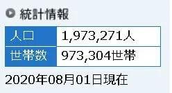 2020年8月札幌人口