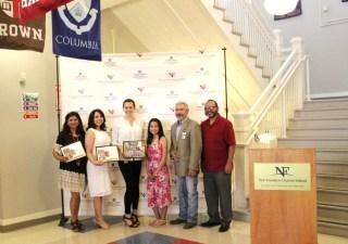 Mrs. Arshad, Deputy Director Kathy Rodriguez, Director Shanon Miller, Honors student Raelyn, Superintendent Mr. Segura, and Principal Mr. Pesina.