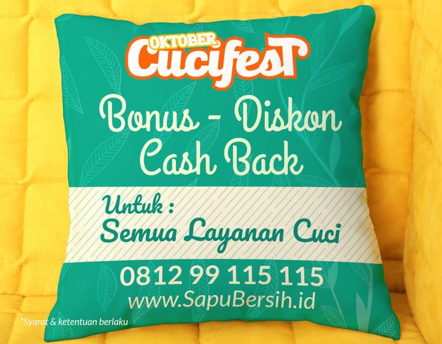 CuciFest SapuBersih - Bonus Diskon Cashback Semua Layanan Cuci