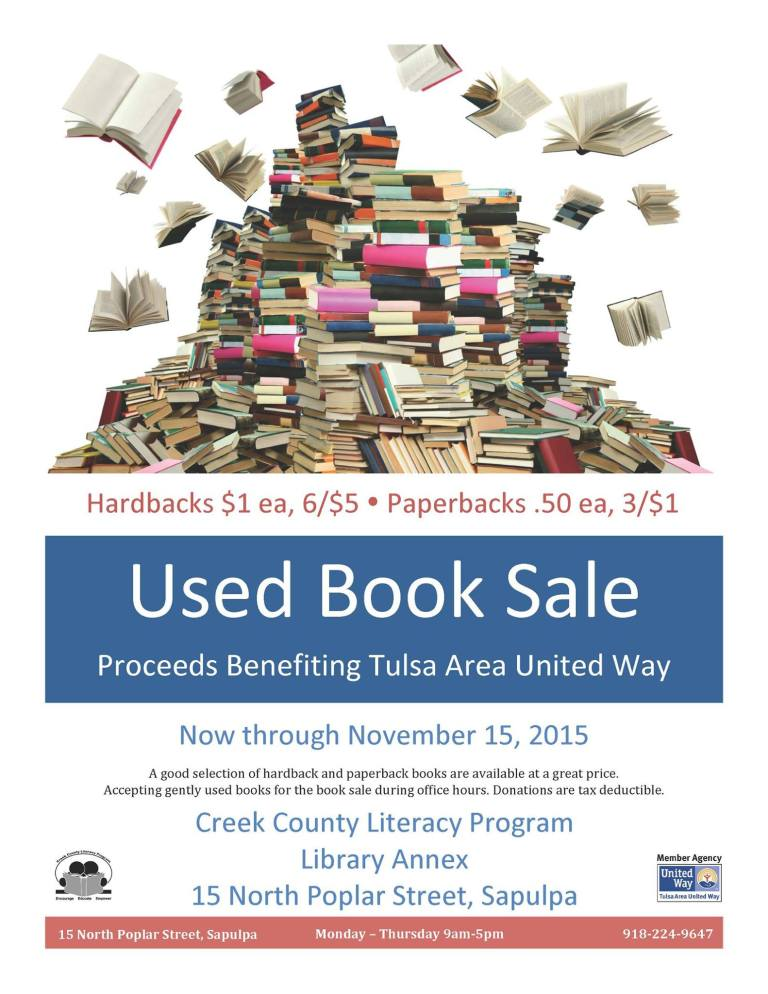 Used Book Sale at Creek County Literacy Program