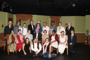 The cast of You Can't Take It With You, the Sapulpa Community Theater's highest-grossing show of all time.