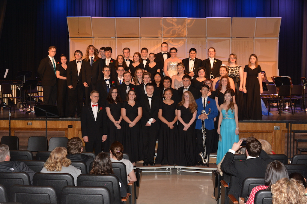 Ensemble students who earned a Superior rating at OSSAA District solo & Ensemble Contest