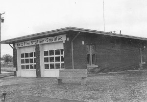 The original Fire Station on the corner of Dewey and Mission. (Photo courtesy Sapulpa Historical Society)