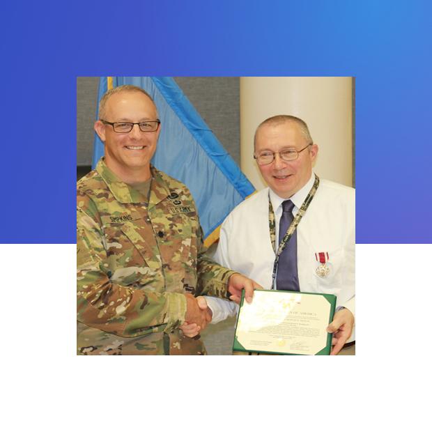 Sapulpa Teacher Mr. Markley receives Meritorious Service Medal