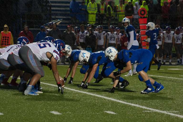 Photos: Sapulpa faces first loss of the season in a water-logged game against Bixby