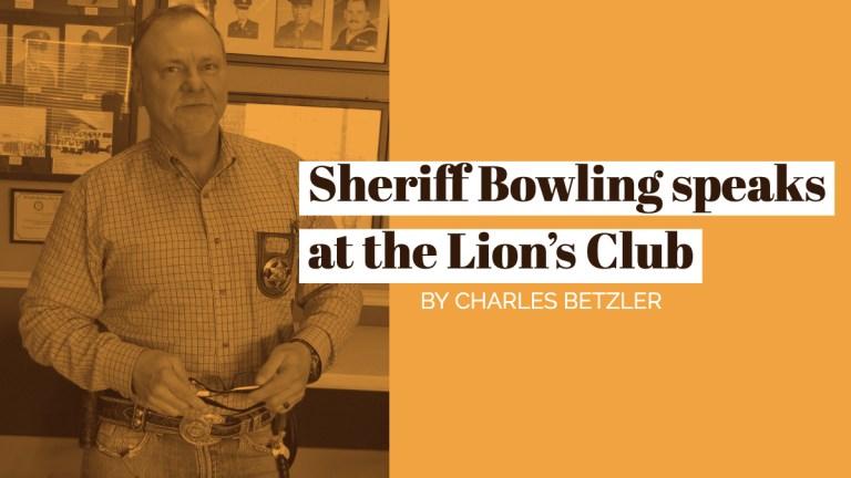 Sheriff Bret Bowling speaks at Lions Club