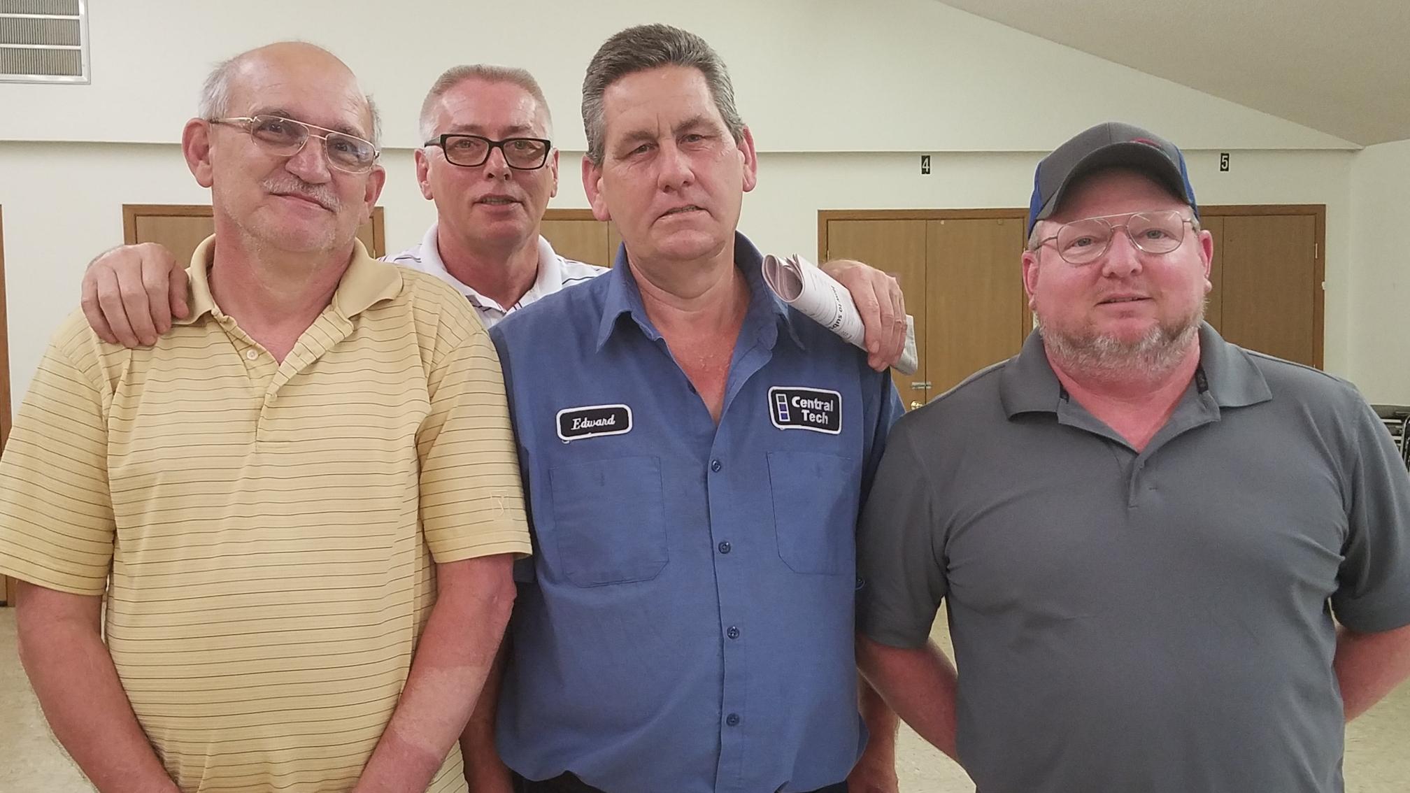 New Trustees: (From left) Terry Voss, John Taylor, Ed Pruitt, Russ Howard