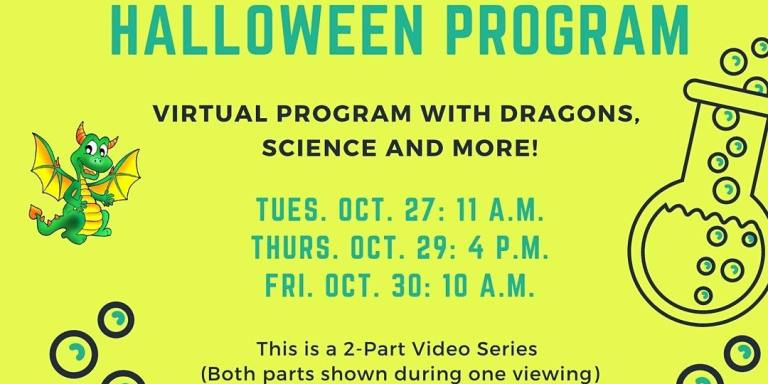 """Still two chances to see the library's """"Mad Science"""" virtual Halloween Program"""