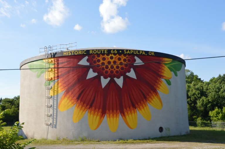 Flower Power: City hopes a new mural will draw even more tourist stops to Sapulpa