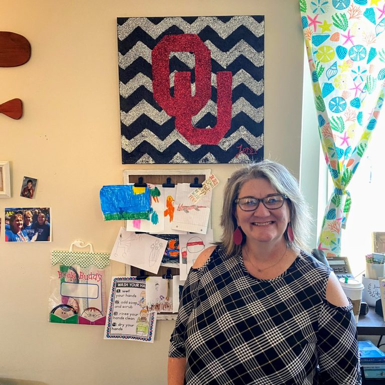 "Freedom Elementary teacher Caren Codding wins OU's ""Teacher of the Game"""