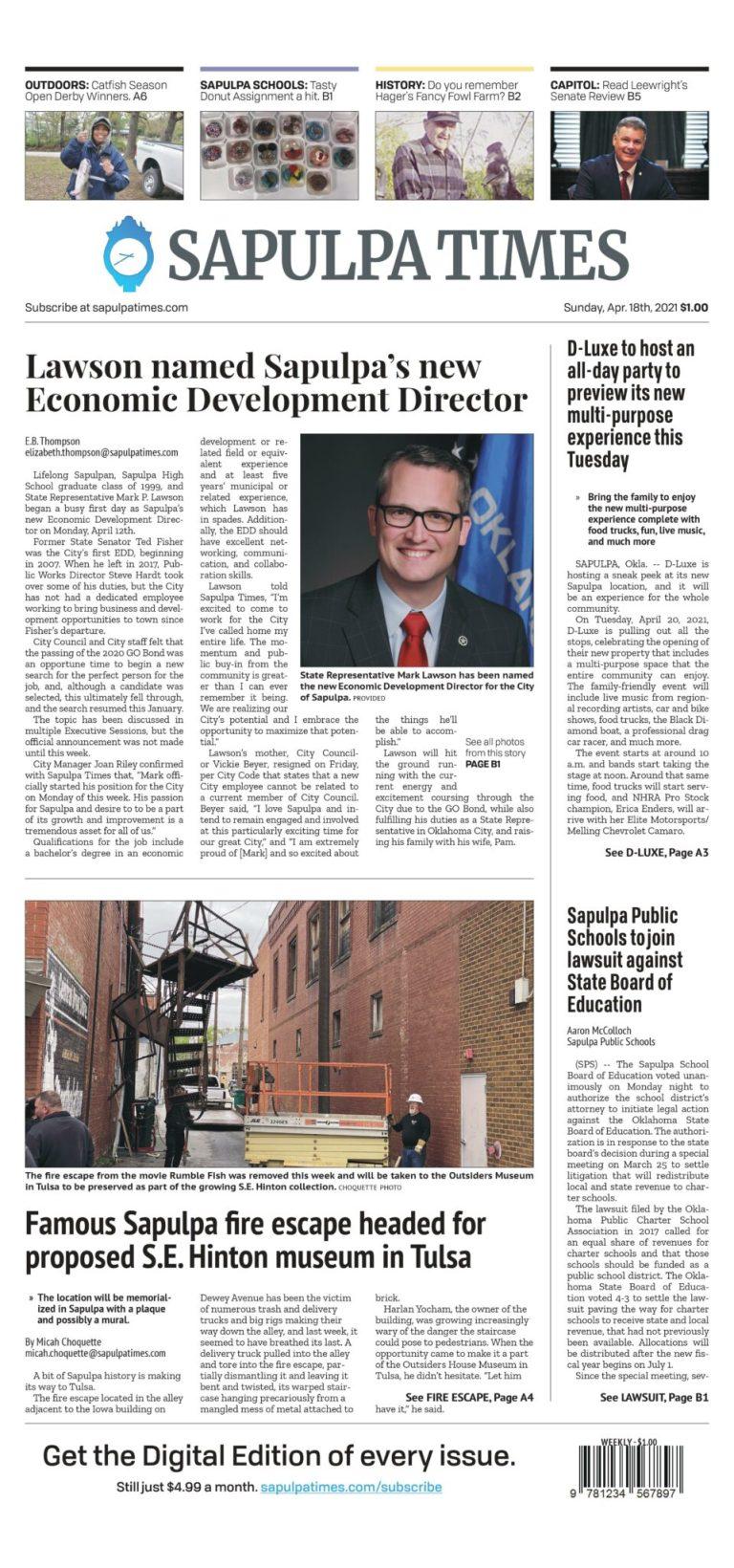 Sapulpa Times Digital Edition 04/18/2021