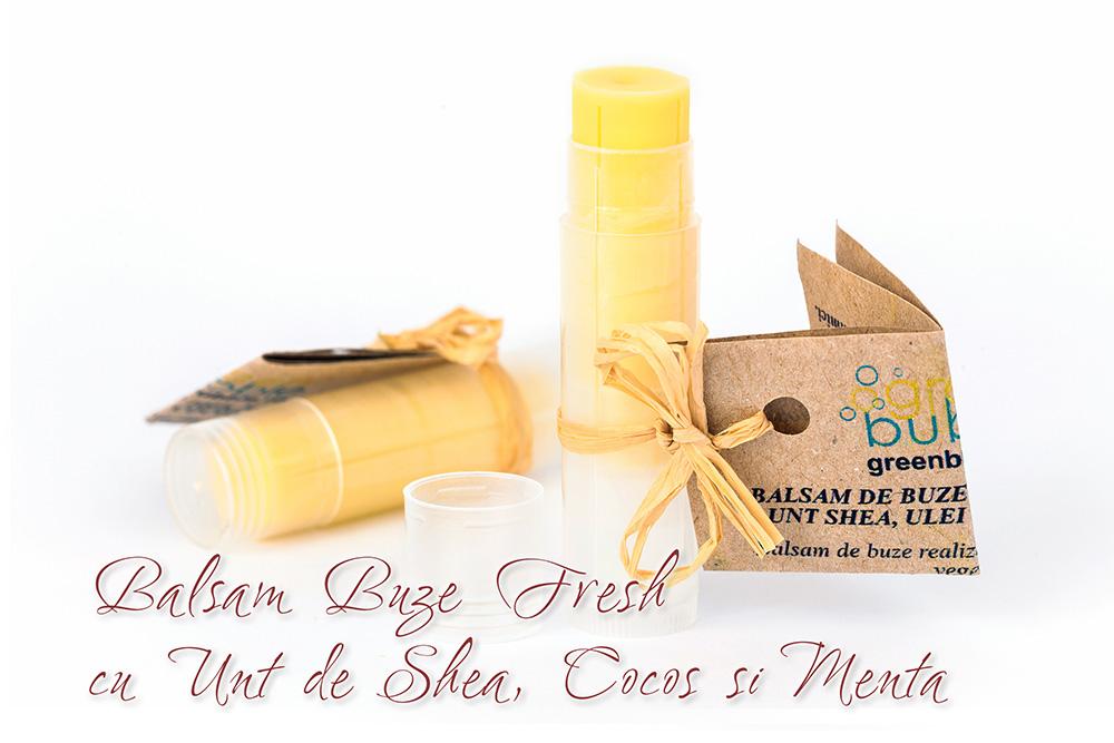 Balsam Buze Fresh cu Unt Shea, Cocos si Menta