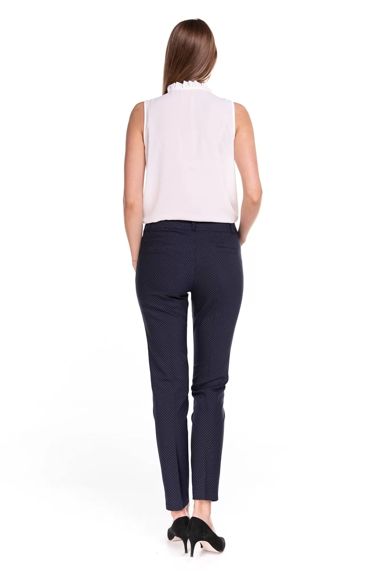 Spodnie Classic Granatowe w kropki