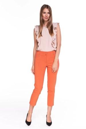 Spodnie Capri Pomarańczowe