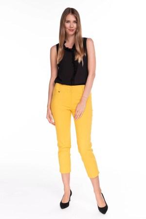 Spodnie Capri Żółte